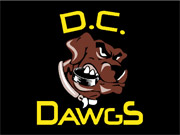 "3' x 4' (35"" x 47"") Digiprint Classic DC DAWGS Indoor Logo Mat"