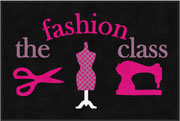 "2' x 3' (24"" x 35"") Digiprint Classic THE FASHION CLASS Indoor Logo Mat"