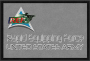 "2' x 3' (24"" x 35"") Digiprint Classic RAPID EQUIPPING FORCE Indoor Logo Mat"