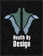 "3' x 4' (35"" x 47"") Digiprint Classic HEALTH BY DESIGN Indoor Logo Mat"