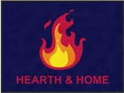 "3' x 4' (35"" x 47"") Digiprint Classic HEARTH & HOME Indoor Logo Mat"