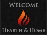 "3' x 4' (35"" x 47"") Digiprint Classic FLAME Indoor Logo Mat"