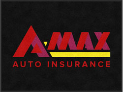"3' x 4' (35"" x 47"") Digiprint Classic AMAX AUTO INSURANCE Indoor Logo Mat"
