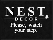 "3' x 4' (35"" x 47"") Digiprint Classic NEST DECOR Indoor Logo Mat"