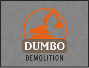 "3' x 4' (35"" x 47"") Digiprint Classic DUMBO DEMOLITION Indoor Logo Mat"
