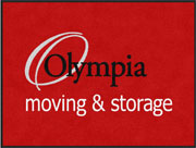 "3' x 4' (35"" x 47"") Digiprint Classic OLYMPIA MOVING Indoor Logo Mat"