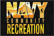 "2' x 3' (24"" x 35"") Digiprint Classic NAVY COMMUNITY RECREATION Indoor Logo Mat"
