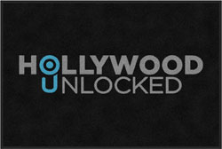 "2 'x 3' (24"" x 35"") Digiprint Classic HOLLYWOOD UNLOCKED Indoor Logo Mat"