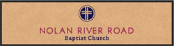 "3' x 12' (35"" x 143"") Digiprint Classic NOLAN RIVER ROAD Indoor Logo Mat"