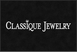 "2 'x 3' (24"" x 35"") Digiprint CLASSIQUE JEWELRY Indoor Logo mat"