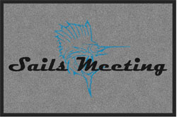 "2 'x 3' (24"" x 35"") Digiprint Classic SAILS MEETING Indoor Logo Mat"
