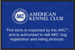 "2 'x 3' (24"" x 35"") Digiprint HD AKC AUTHORIZATION Indoor Logo Mat"