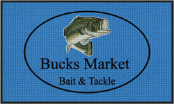 "3' x 5' (35"" x 59"") Waterhog Impressions HD BUCKS MARKET Indoor/Outdoor Logo Mat"