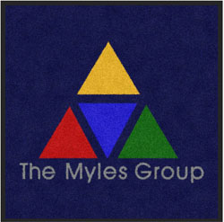"3' x 3' ( 35"" x 35"" ) Digiprint Classic  THE MYLES GROUP Indoor Logo Mat"