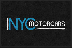 "2 'x 3' (24"" x 35"") Digiprint Classic NYC MOTOR CARS Indoor Logo Mat"
