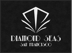"3' x 4' (35"" x 47"") Digiprint HD DIAMOND SEAS  Indoor Logo Mat"