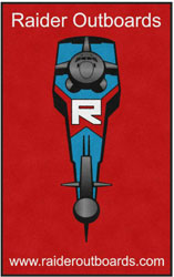 "5' x 8' (58"" x 95"") Digiprint Classic RAIDER OUTBOARDS  Indoor Logo Mat"