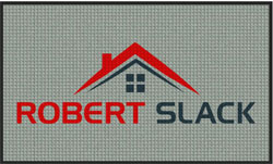 "3' x 5 (35"" x 59"") Waterhog Inlay ROBERT SLACK Indoor/Outdoor Logo Mat"