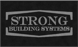 "3' x 5' (35"" x 59"") Digiprint Classic STRONG BUILDING SYSTEMS Indoor Logo Mat"