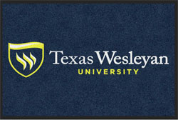 "2 'x 3' (24"" x 35"") Digiprint HD TEXAS WESLEYAN   Indoor Logo Mat"