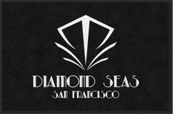 "2 'x 3' (24"" x 35"") Digiprint HD DIAMOND SEAS  Indoor Logo Mat"