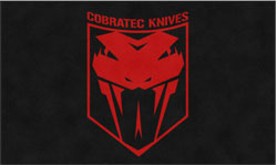 "6' x 10' (68"" x 119"") Digiprint Classic COBRATEC KNIVES  Indoor Logo Mat"