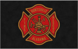 "5' x 8' (58"" x 95"") Digiprint Classic HUNTSVILLE FIRE RESCUE Indoor Logo Mat"