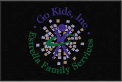 "4' x 6'(45"" x 69"") Waterhog Impressions HD GO KIDS  Indoor/Outdoor Logo Mat"