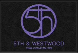 "2 'x 3' (24"" x 35"") Digiprint HD 5TH AND WESTWOOD  Indoor Logo Mat"