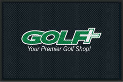 "4' x 6 (45"" x 69"") Superscrape Impressions GOLF  Indoor Logo mat"