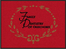"3' x 4' (35"" x 45"") Waterhog Impressions HD FAMILY DENTISTRY OF OKEECHOBEE   Indoor-Outdoor Logo Mat"