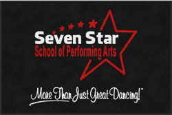 "4' x 6'(45"" x 69"") Digiprint Classic SEVEN STAR SCHOOL  Indoor Logo Mat"