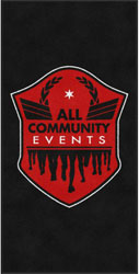 "4' x 8'(45"" x 95"") Digiprint Classic ALL COMMUNITY EVENTS  Indoor Logo mat"