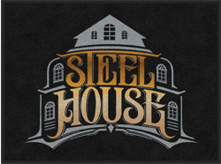 "3' x 4' (35"" x 47"") Digiprint HD STEELHOUSE AUTO  Indoor Logo Mat"
