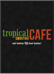 "3' x 4' (35"" x 47"") Digiprint HD TROPICAL SMOOTHIE CAFE  Indoor Logo Mat"