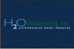 "4' x 6'(45"" x 69"") Waterhog Impressions HD H2O WATERWALLS  Indoor/Outdoor Logo Mat"
