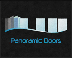 "4' x 5' (45"" x 58"") Digiprint Classic PANORAMIC DOORS Indoor Logo Mat"