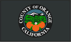 3' x 5' Eco Berber COUNTY OF ORANGE CALIFORNIA  Indoor/Outdoor Logo Mat