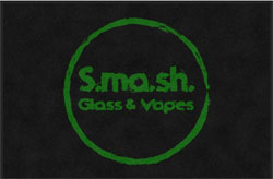 "4' x 6'(45"" x 69"") Digiprint Classic SMASH GLASS AND VAPES  Indoor Logo Mat"
