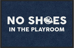 "2 'x 3' (24"" x 35"") Digiprint HD  NO SHOES  Indoor Logo Mat"