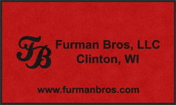 "3' x 5' (35"" x 59"") Digiprint Classic FURMAN BROS  Indoor Logo Mat"