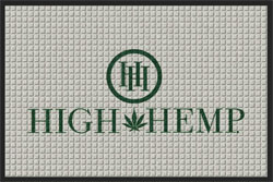 "2' x 3' ( 22"" x 35"") Waterhog Impressions HD HIGH HEMP  Indoor/Outdoor logo mat"