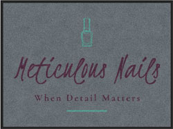 "3' x 4' (35"" x 47"") Digiprint HD METICULOUS NAILS Indoor Logo Mat"