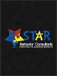 "3' x 4' (35"" x 47"") Digiprint HD STAR BEHAVIOR   Indoor Logo Mat"