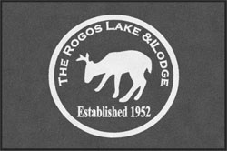 "4' x 6'(45"" x 69"") Digiprint Classic ROGOS LAKE & LODGE Indoor Logo Mat"