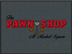 "3' x 4' '(35"" x 45"") Waterhog Impressions HD THE PAWNSHOP   Indoor/Outdoor Logo Mat"