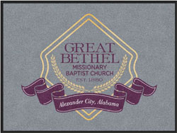 "3' x 4' (35"" x 47"") Digiprint HD GREAT BETHEL    Indoor Logo Mat"
