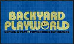 "3' x 5' (35"" x 58"") Waterhog Impressions HD BACKYARD PLAYWORLD Indoor/Outdoor Logo Mat"