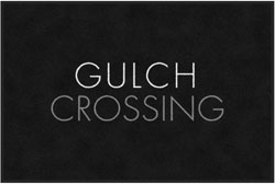 "4' x 6'(45"" x 69"") Digiprint Classic GULCH CROSSING  Indoor Logo Mat"