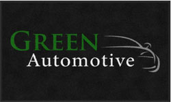 "3' x 5' (35"" x 59"")Digiprint Classic GREEN AUTOMOTIVE Indoor Logo Mat"